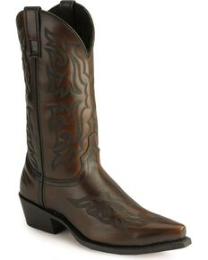 Laredo Men's Hawk Western Boots, Burnt Apple, hi-res