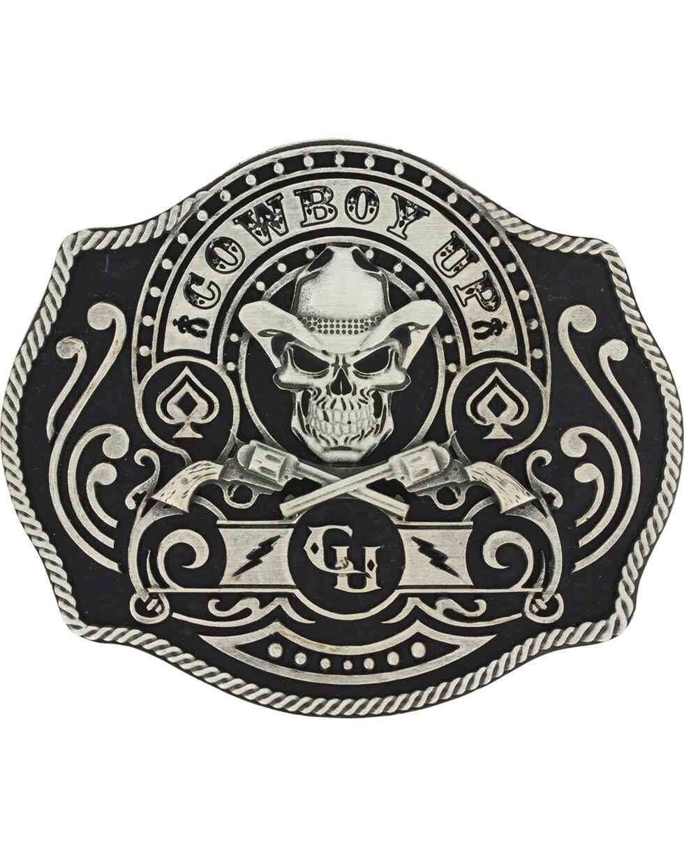 Montana Silversmiths Men's Silver Cowboy Up Belt Buckle , Silver, hi-res
