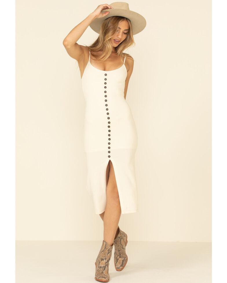 HYFVE Women's Button Mini Dress, Ivory, hi-res