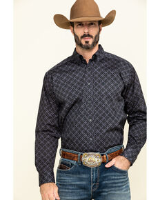Ariat Men's Fanton Stretch Geo Print Long Sleeve Western Shirt - Big , Multi, hi-res