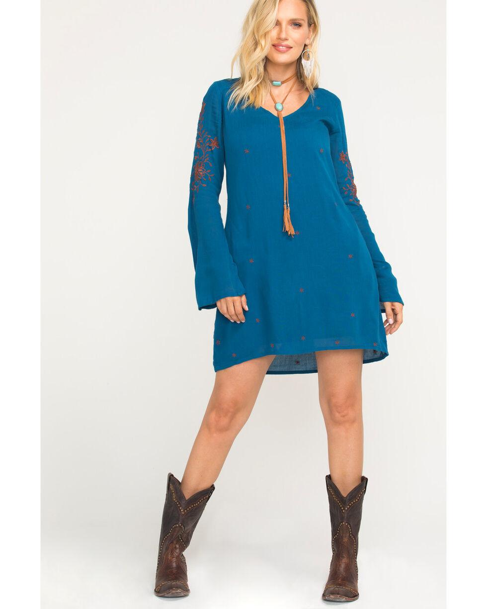 Idyllwind Women's Back At You Mini Dress, Teal, hi-res