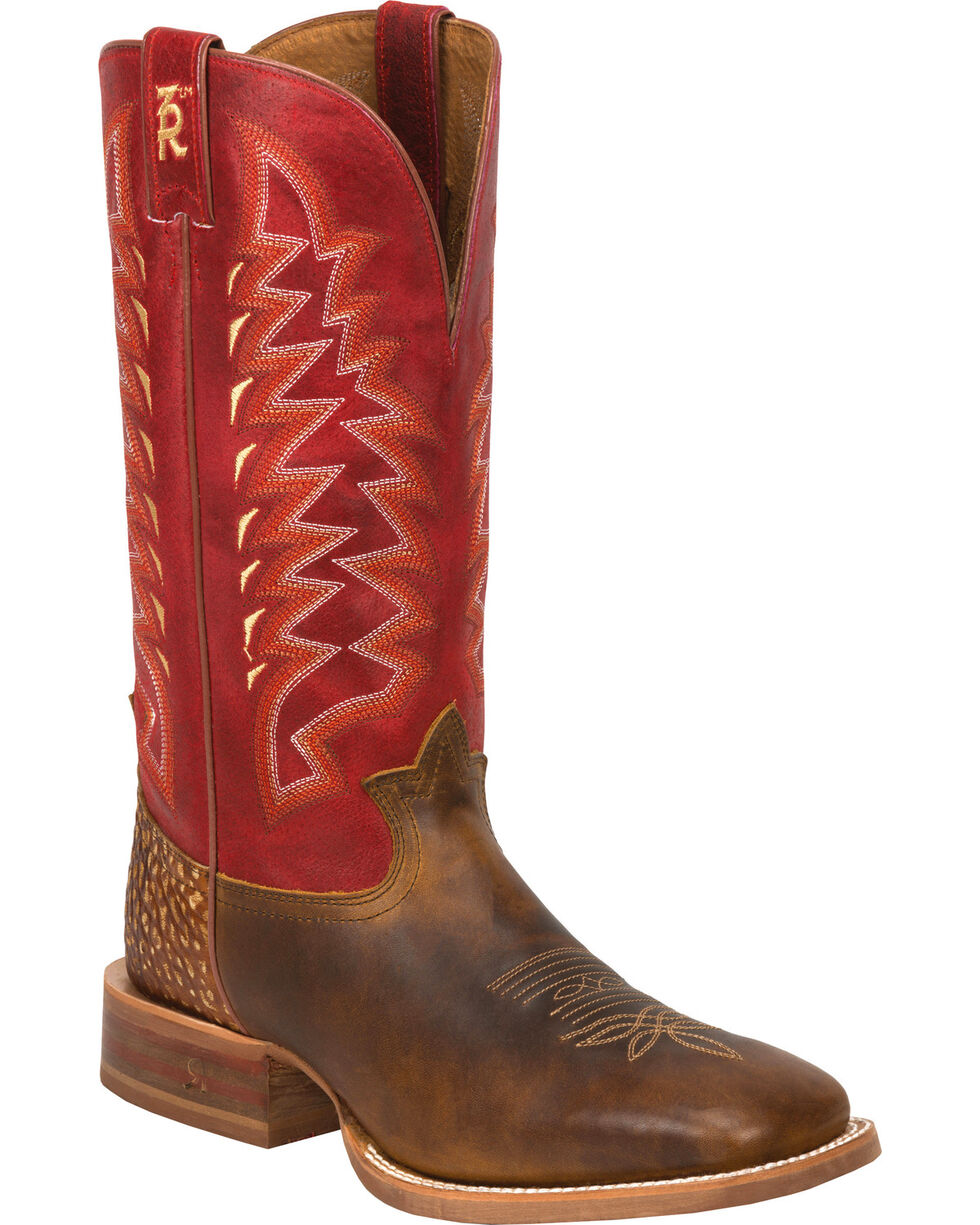 Tony Lama 3R Men's Cuero Western Boots, Tan, hi-res