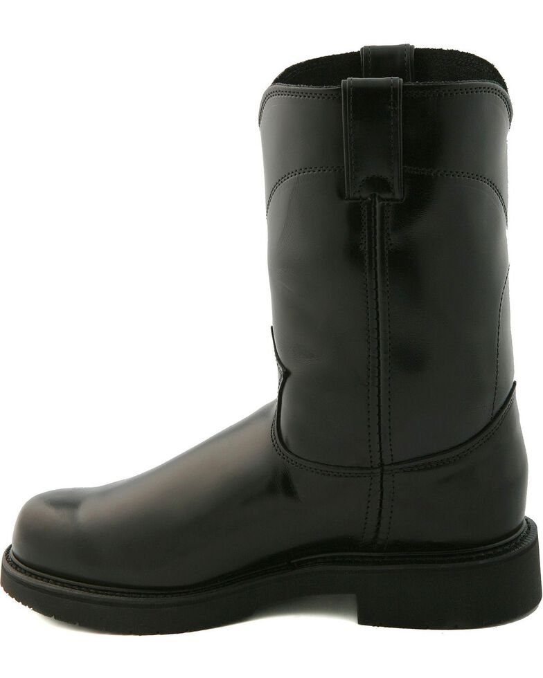 """Justin Boots Men's Pull On 10"""" Work Boots, Black, hi-res"""