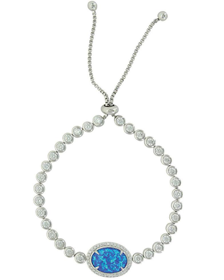 Montana Silversmiths Women's River Lights Opal Lariat Bracelet, Silver, hi-res