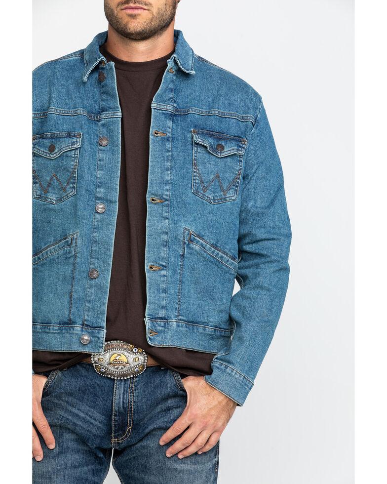 Wrangler Retro Men's Dark Unlined Denim Jacket , Blue, hi-res