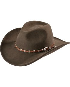 Outback Unisex Wallaby Hat, Brown, hi-res