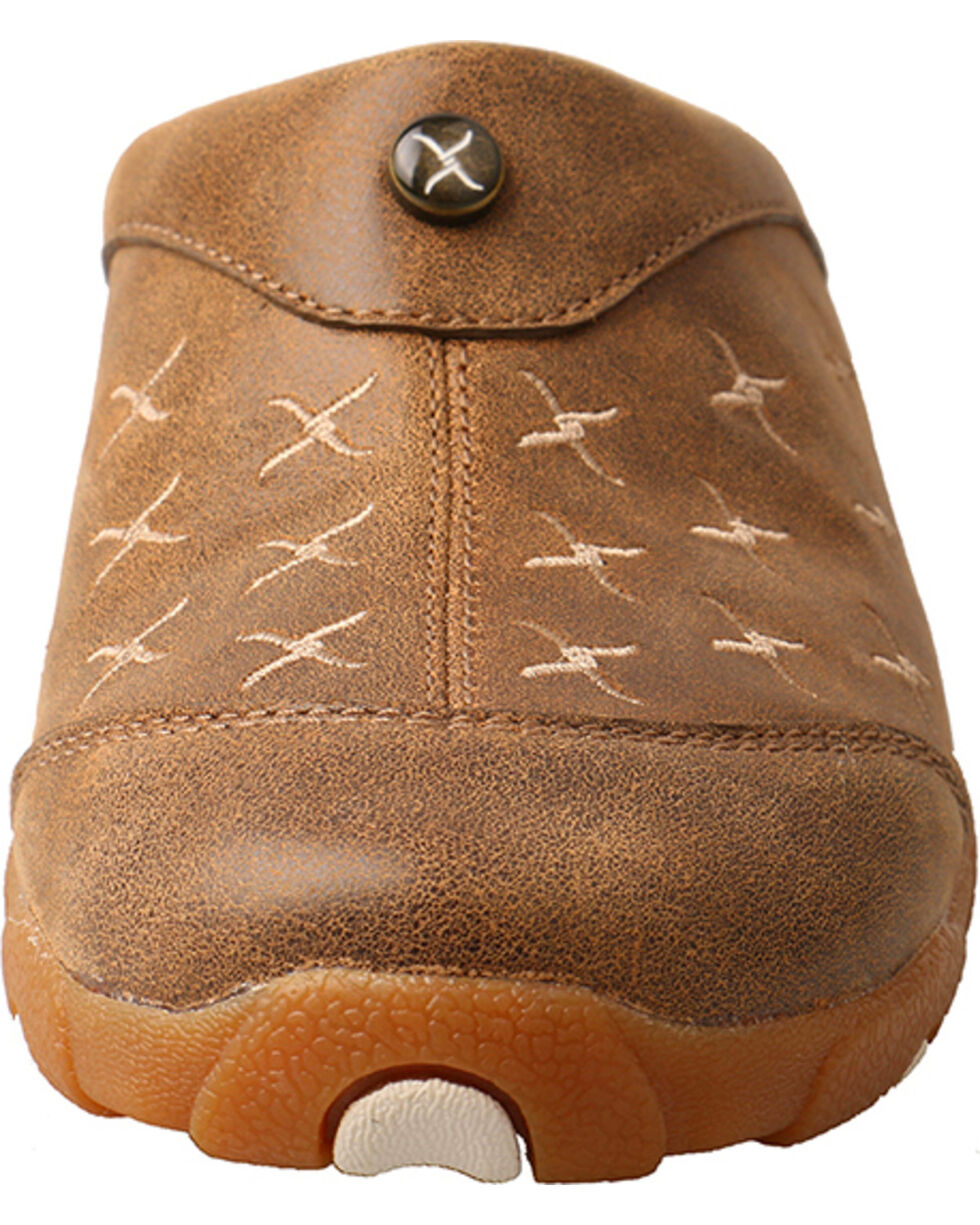 Twisted X Women's Driving Mules, Brown, hi-res