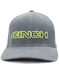 Cinch Men's Flex Fit Ball Cap, Indigo, hi-res
