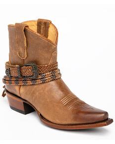 Shyanne Women's Trailblazer Fashion Booties - Snip Toe, Brown, hi-res