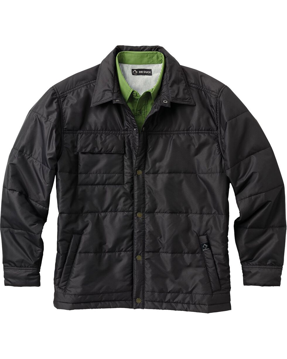 Dri Duck Men's Ranger Therma Puff Work Jacket, Black, hi-res