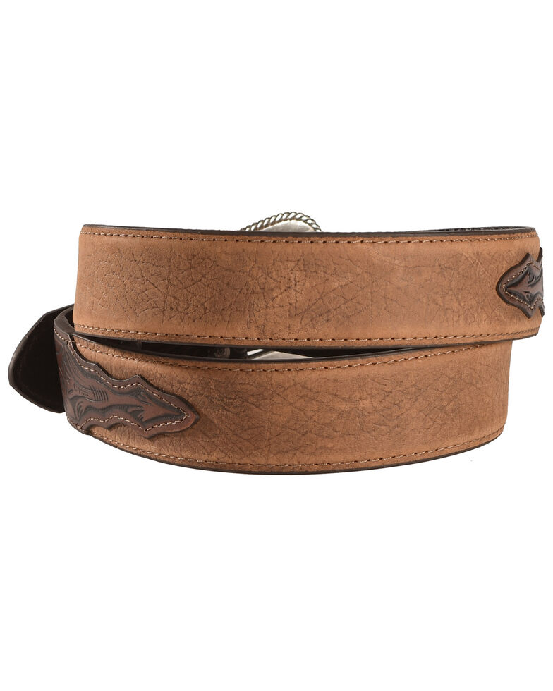 Ariat Distressed Hand Tooled Leather Belt, , hi-res