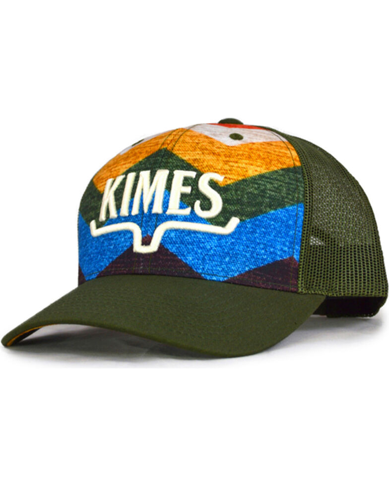 Kimes Ranch Men's Hand Woven Trucker Cap , Dark Green, hi-res
