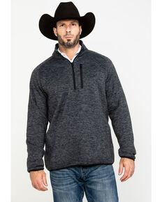 Stetson Men's Grey Bonded 1/4 Zip Front Sweater, Grey, hi-res
