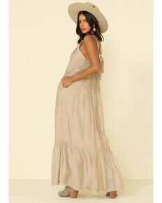 Free People Women's Pintuck Maxi Dress, Sand, hi-res