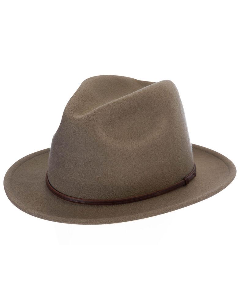 Black Creek Men's Putty Crushable Western Wool Felt Hat , Grey, hi-res