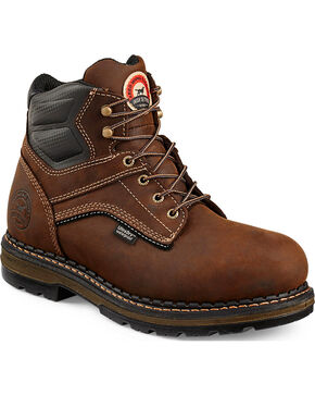"Irish Setter by Red Wing Shoes Men's Ramsey 6"" Work Boots - Soft Round Toe  , Brown, hi-res"