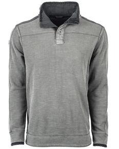 STS Ranchwear Men's Outlander 2 Button Top Pullover - Big , Grey, hi-res