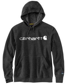 Carhartt Men's Black Force Delmont Signature Graphic Hooded Work Sweatshirt - Big , Black, hi-res