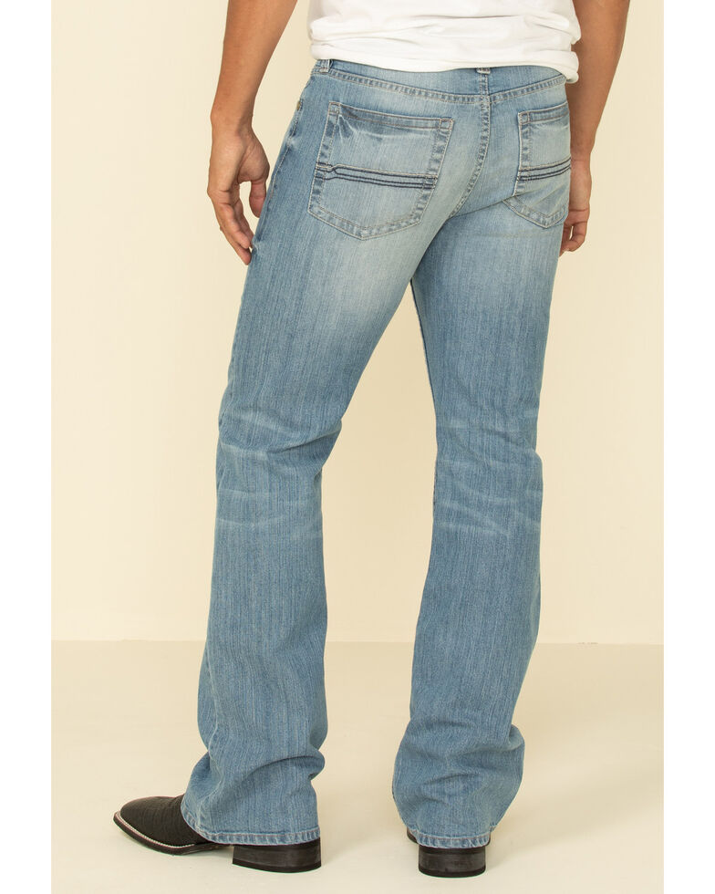 Cody James Men's Hamshackle Light Wash Stretch Relaxed Boot Jeans , Blue, hi-res
