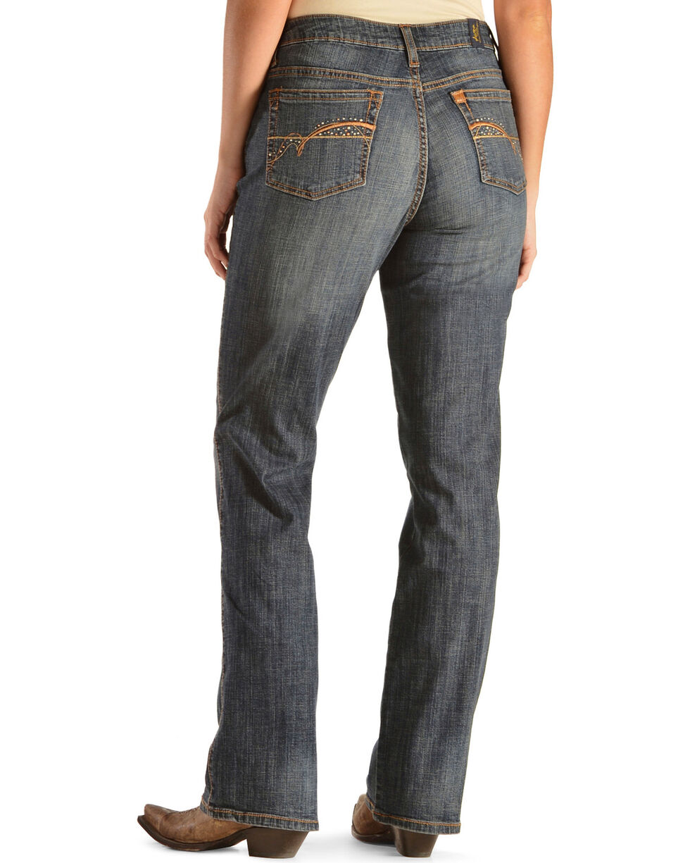 Aura by Wrangler Women's Autumn Gold Slimming Stretch Jeans, Denim, hi-res