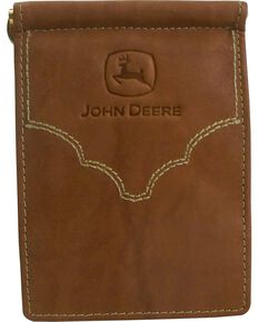 John Deere Crazyhorse Leather Wallet, Brown, hi-res