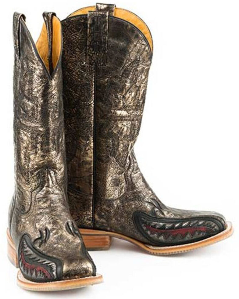 Tin Haul Women's Jawsome Western Boots - Wide Square Toe, Yellow, hi-res