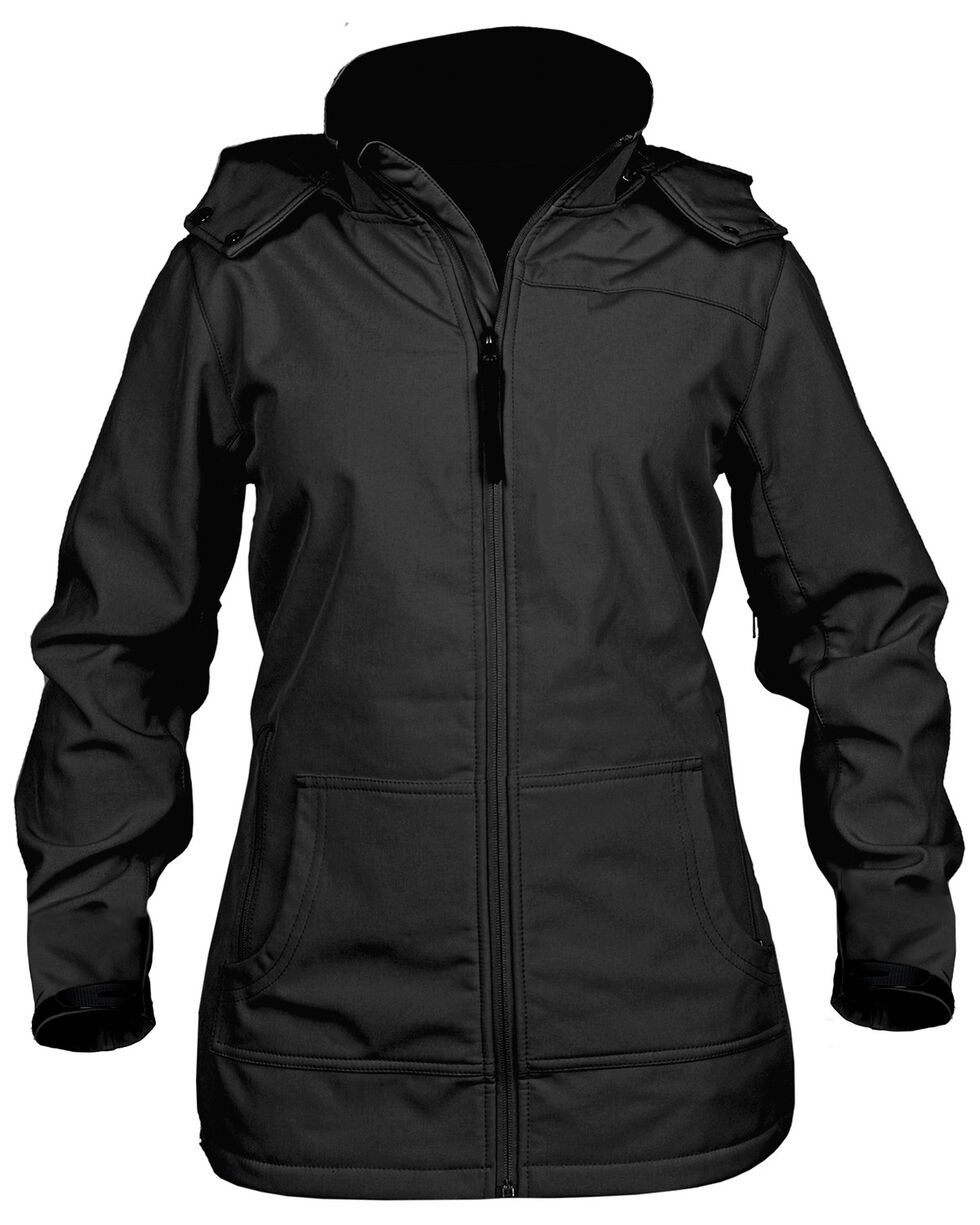 STS Ranchwear Women's Barrier Softshell Hooded Jacket, Black, hi-res