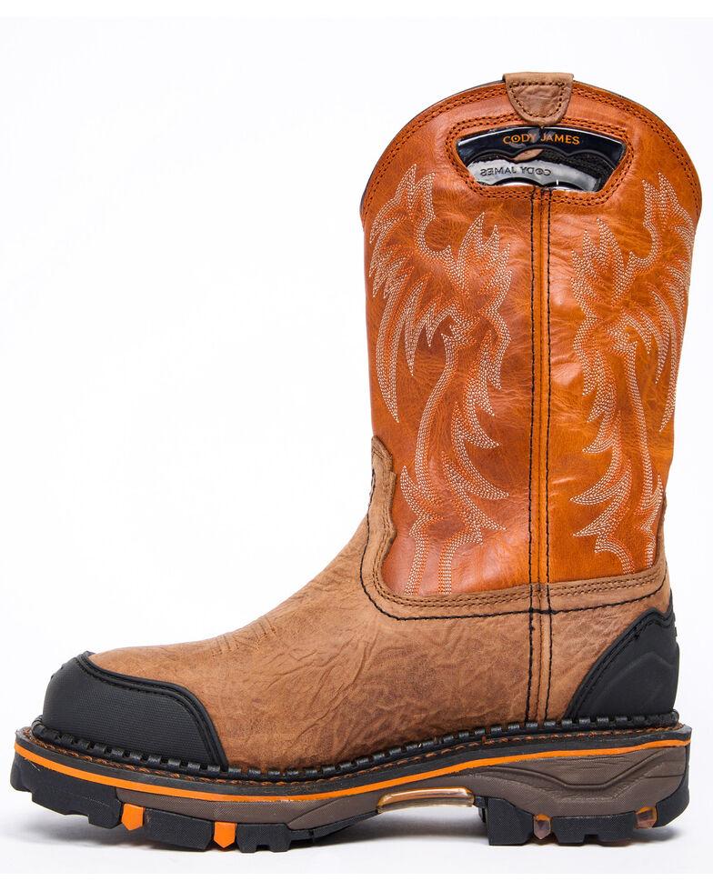 Cody James Men's Decimator Orange Top Western Work Boots - Composite Toe, Brown, hi-res