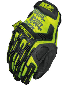 Mechanix Wear Hi-Viz M-Pact XD Gloves , Bright Yellow, hi-res