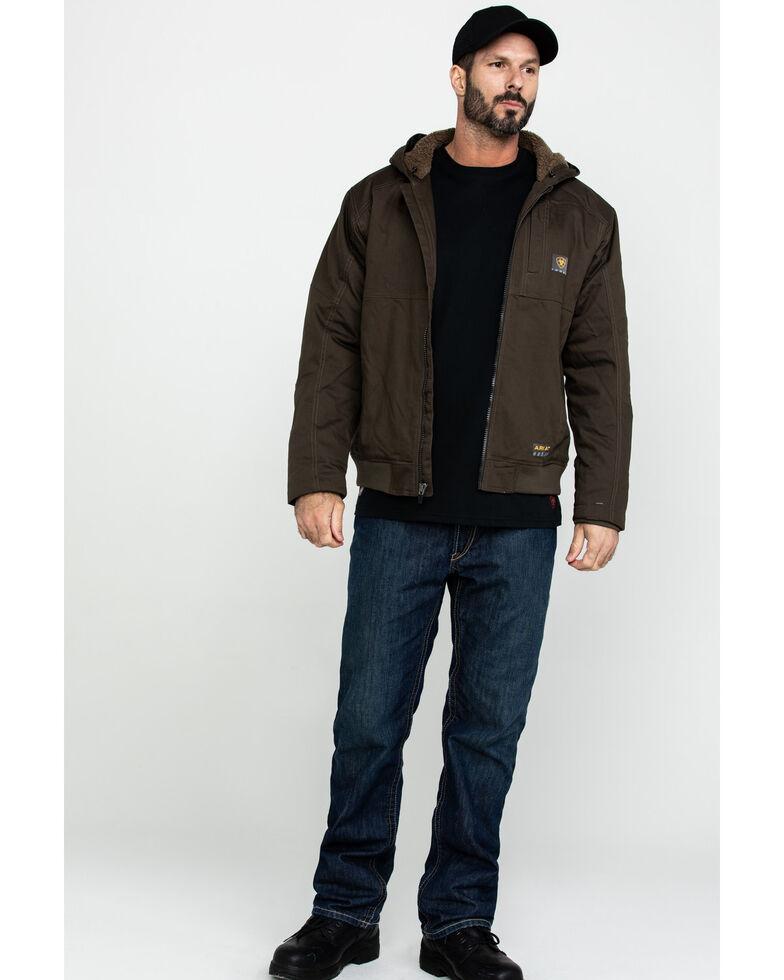 Ariat Men's Rebar Dura Canvas Zip Up Work Jacket - Big & Tall , Loden, hi-res