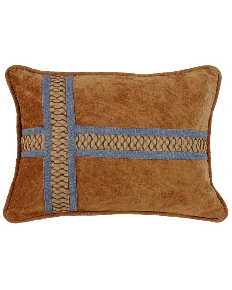 HiEnd Accents Multi Lexington Cross Design Pillow, Multi, hi-res