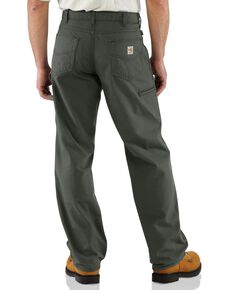 Carhartt Flame Resistant  Canvas Work Pants - Big & Tall, Moss, hi-res