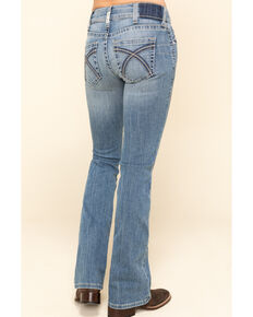 Ariat Women's R.E.A.L Light Wash Rose Bootcut Jeans, Blue, hi-res