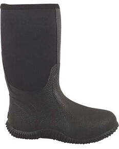 Smoky Mountain Men's Black Amphibian Boots - Round Toe , Black, hi-res