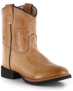 Cody James® Toddler's Showdown Round Toe Western Boots, Tan, hi-res