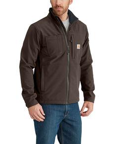 Carhartt Men's Dark Brown Rough Cut Work Jacket - Tall , Dark Brown, hi-res