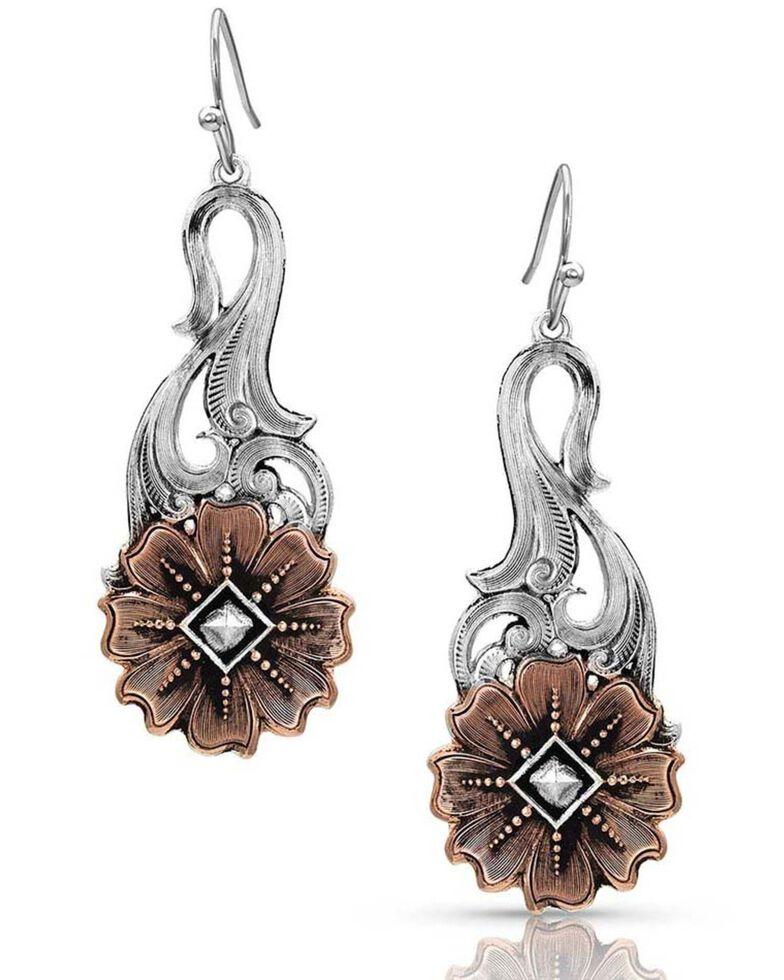 Montana Silversmiths Women's Wildflower Kaleidoscope Earrings, Silver, hi-res