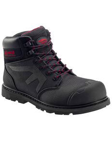 "Avenger Men's 6"" Puncture Resistant Work Boots - Composite Toe, Black, hi-res"