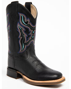 Shyanne Girls' Black Western Boots - Narrow Square Toe, Black, hi-res