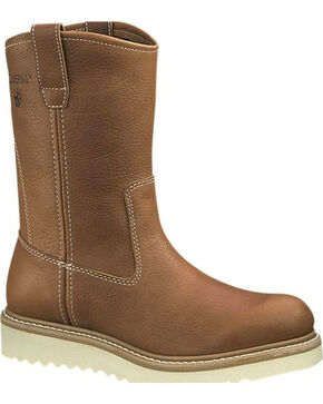Wolverine Men's Wellington Wedge Work Boots, Brown, hi-res