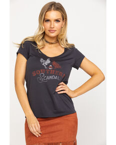 Idyllwind Women's Southern Scandal Trustie Tee , Charcoal, hi-res