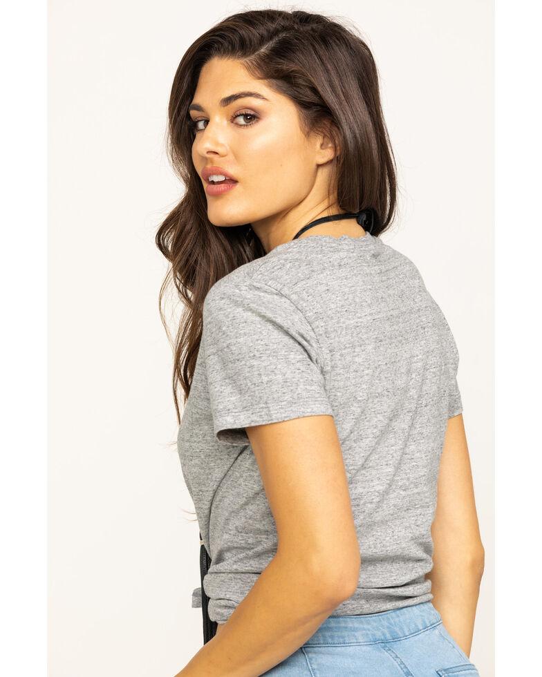 Levi's Women's Grey Batwing Logo Short Sleeve Perfect Tee, Grey, hi-res