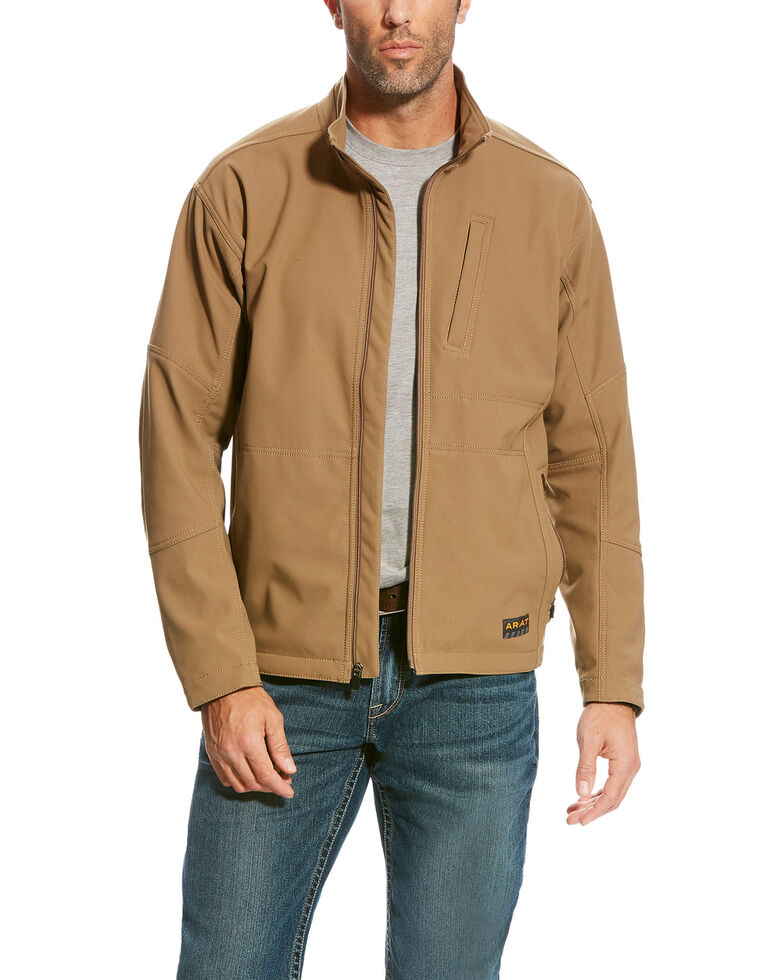 Ariat Men's Beige Rebar Canvas Softshell Field Jacket , Beige/khaki, hi-res