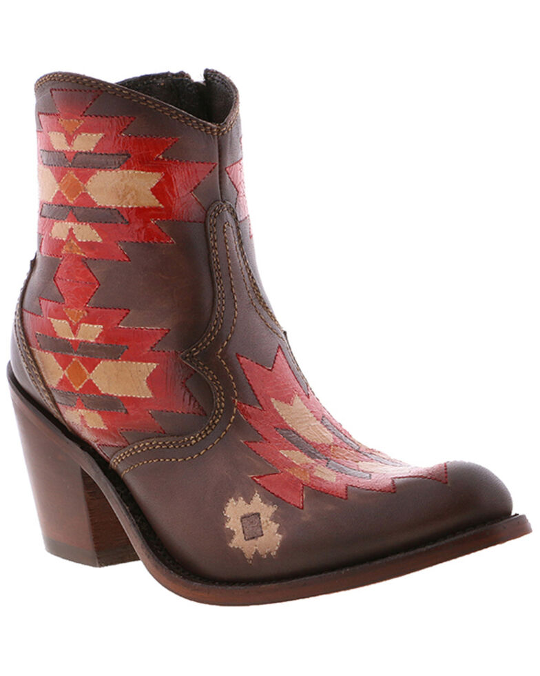 Liberty Black Women's Pollock Coco Fashion Booties - Round Toe, Red, hi-res