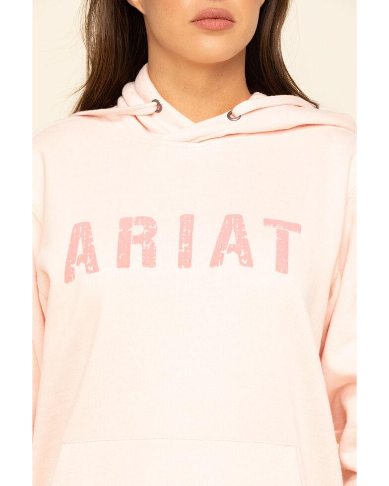 Ariat Women's Blush Logo Hoodie Sweatshirt , Blush, hi-res