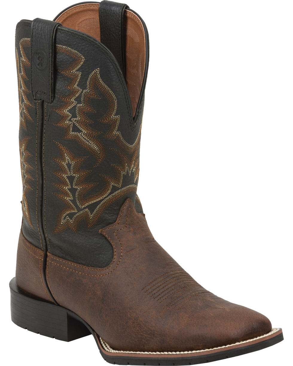 Tony Lama Men's 3R Western Work Boots, Brown, hi-res