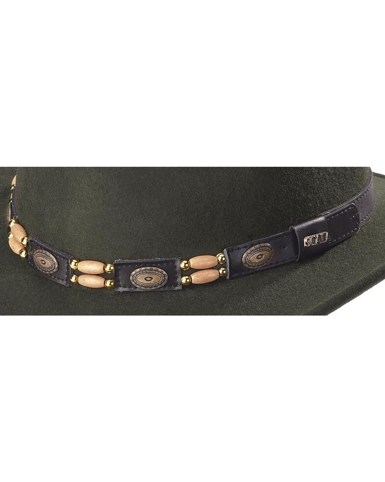 Scala Olive Wool Felt Concho Band Outback Hat, Olive, hi-res