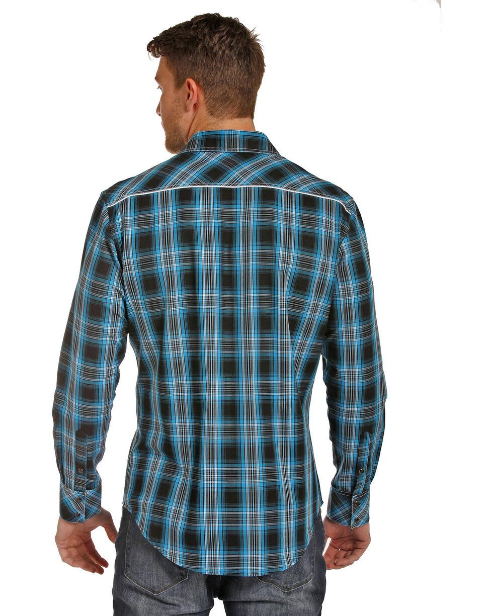 Rock & Roll Cowboy Men's Twill Plaid Shirt , , hi-res