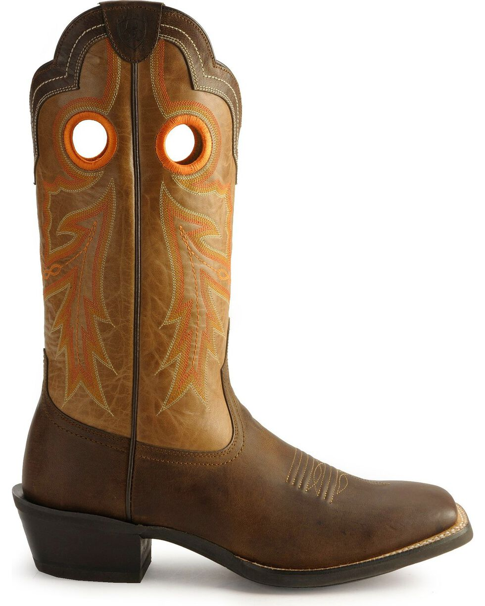 Ariat Men's Wild Stock Western Boots, Brown, hi-res