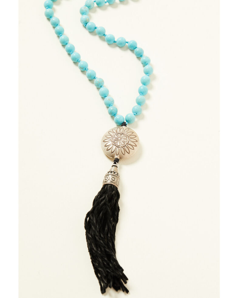 Double D Ranch Women's Fringe Turquoise Necklace, Turquoise, hi-res